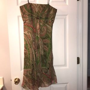Laundry by Shelli Segal Strapless Silk Dress